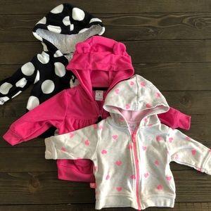 3pk! Carter's Baby Girl 3m sweater bundle